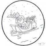Navidad - Tarjeta perforada de Navidad 4