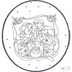 Navidad - Tarjeta perforada de Navidad 5