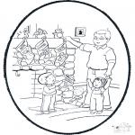 Navidad - Tarjeta perforada de Navidad 6