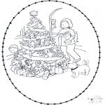 Navidad - Tarjeta perforada de Navidad 7