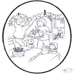 Navidad - Tarjeta perforada de Navidad 8
