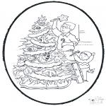 Navidad - Tarjeta perforada de Navidad 9