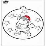Navidad - Tarjeta perforada de Papá Noel