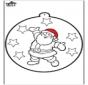 Tarjeta perforada de Papá Noel