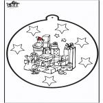 Navidad - Tarjeta perforada de regalo de Navidad 1