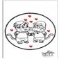Tarjeta perforada de San Valentín 5