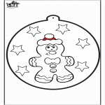 Navidad - Tarjeta perforada - Hombre de jengibre 1