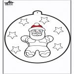 Navidad - Tarjeta perforada - Hombre de jengibre 2