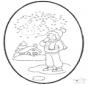 Tarjeta perforada invierno 1