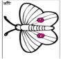 Tarjeta perforada - mariposa
