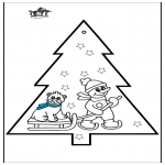 Navidad - Tarjeta perforada - Muñeco de nieve 3