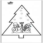 Navidad - Tarjeta perforada - Navidad 2