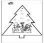 Tarjeta perforada - Navidad 2