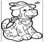 Tarjeta perforada - Perro 1