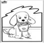 Tarjeta perforada - Perro 2