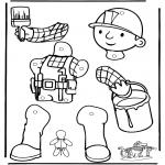 Manualidades - Títere Bob el Constructor 1