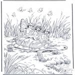 Animales - Tortuga y elfos