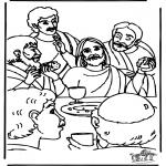 Dibujos de la Biblia - Última cena