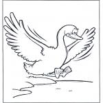 Animales - Un ganso volando