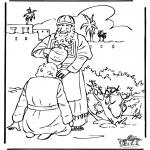 Láminas de la Biblia - Unción de David