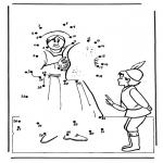Manualidades - Une los números 4