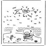 Manualidades - Une los números: Isla 1