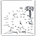 Manualidades - Une los números: Isla 2