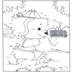 Manualidades - Une los números - Perro 2