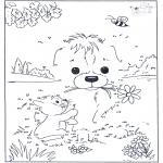 Manualidades - Une los números - Perro 3
