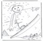 Une los números:  Snowboard 1