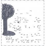 Manualidades - Une los puntos - Árbol