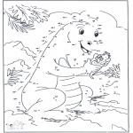 Manualidades - Une los puntos - Dragón