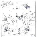 Manualidades - Une los puntos - Pato