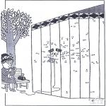 Manualidades - Une los puntos - zoológico 8