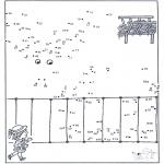Manualidades - Une los puntos - zoológico 9