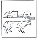 Animales - Vaca en la granja