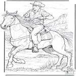 Animales - Vaquero con caballo