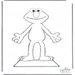 Dibujos Infantiles - Viste a Elmo