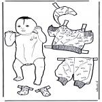 Manualidades - Viste al bebé