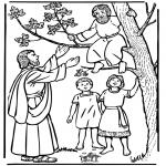 Dibujos de la Biblia - Zaqueo y Jesús